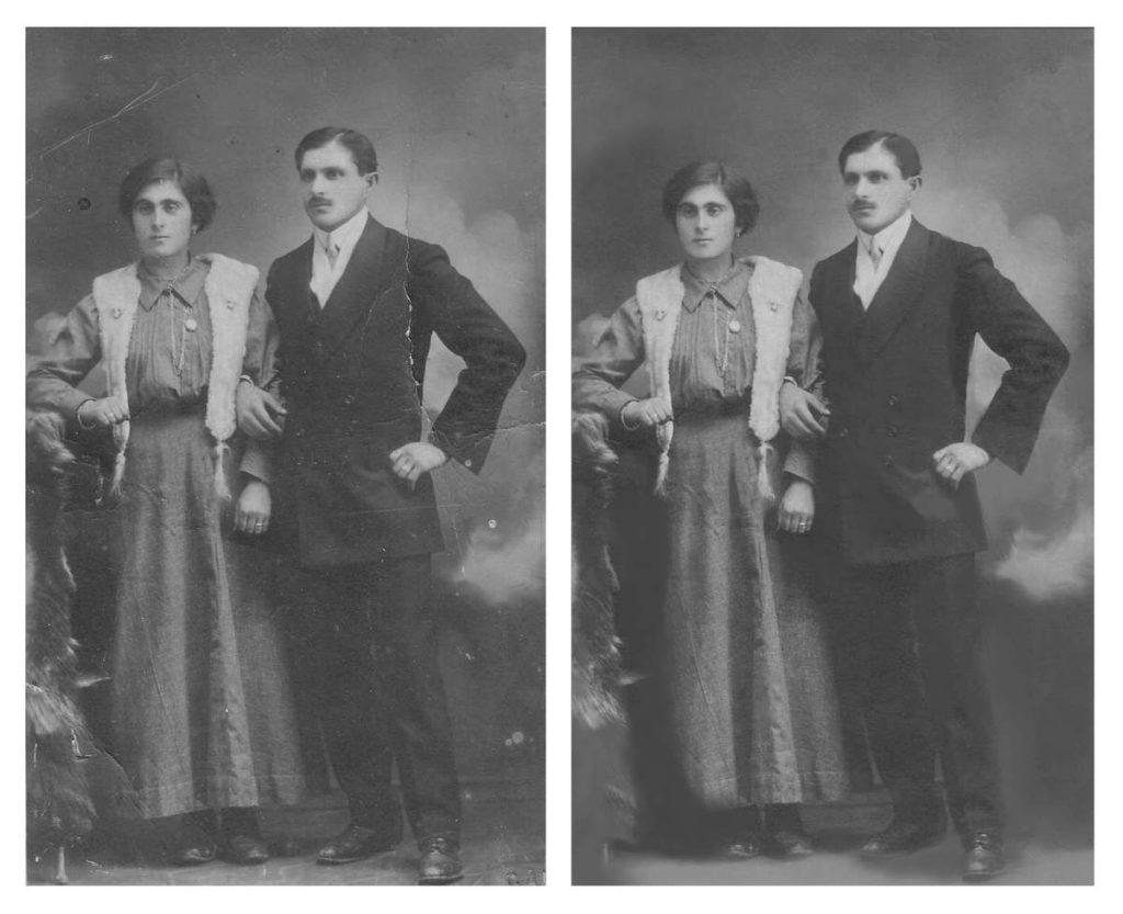 come restaurare vecchie foto